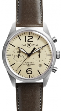 Bell & Ross BR 126 Vintage Mens watch, model number - BRV 126 Original Beige, discount price of £2,421.00 from The Watch Source
