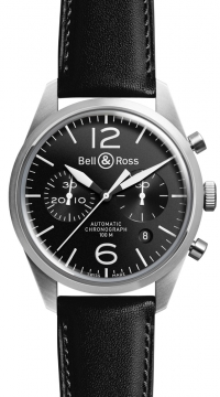 Bell & Ross BR 126 Vintage Mens watch, model number - BRV 126 Original Black, discount price of £2,421.00 from The Watch Source