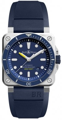 Bell & Ross BR03-92 Automatic 42mm BR0392-D-BU-ST/SRB watch