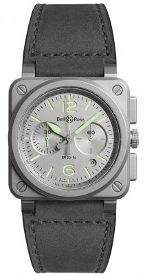 Bell & Ross BR03-94 Chronograph 42mm BR0394-GR-ST/SCA watch