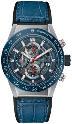 Buy this new Tag Heuer Carrera Caliber Heuer 01 Skeleton 43mm car201t.fc6406 mens watch for the discount price of £3,740.00. UK Retailer.