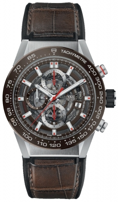Buy this new Tag Heuer Carrera Caliber Heuer 01 Skeleton 43mm car201u.fc6405 mens watch for the discount price of £3,740.00. UK Retailer.