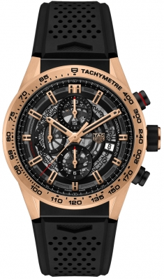 Buy this new Tag Heuer Carrera Caliber Heuer 01 Skeleton 43mm car205b.ft6087 mens watch for the discount price of £8,585.00. UK Retailer.