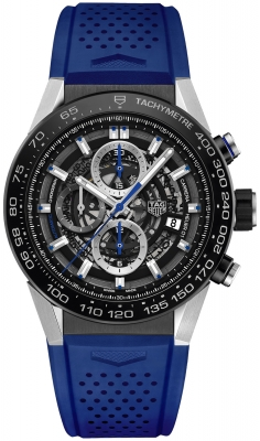 Buy this new Tag Heuer Carrera Caliber Heuer 01 Skeleton 45mm car2a1t.ft6052 mens watch for the discount price of £3,735.00. UK Retailer.
