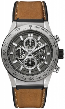 Buy this new Tag Heuer Carrera Caliber Heuer 01 Skeleton 45mm car2a8a.ft6072 mens watch for the discount price of £4,377.00. UK Retailer.
