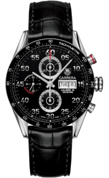 Tag Heuer Carrera Day Date Automatic Chronograph 43mm Mens watch, model number - cv2a10.fc6235, discount price of £3,116.00 from The Watch Source