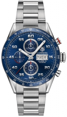 Buy this new Tag Heuer Carrera Day Date Automatic Chronograph 43mm cv2a1v.ba0738 mens watch for the discount price of £3,272.00. UK Retailer.