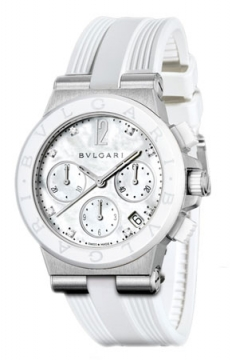 Bulgari Diagono Chronograph 37mm Ladies watch, model number - dg37wscvdch/8, discount price of £5,586.00 from The Watch Source