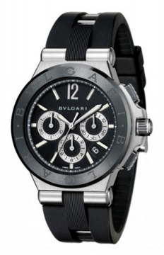 Bulgari Diagono Chronograph 42mm Mens watch, model number - dg42bscvdch, discount price of £5,312.00 from The Watch Source