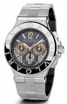 Bulgari Diagono Chronograph Calibre 303 42mm Mens watch, model number - dg42c14swgsdch, discount price of £8,439.00 from The Watch Source
