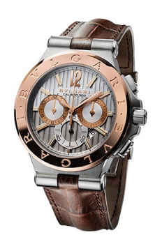 Bulgari Diagono Chronograph Calibre 303 42mm Mens watch, model number - dg42c6spgldch, discount price of £7,720.00 from The Watch Source