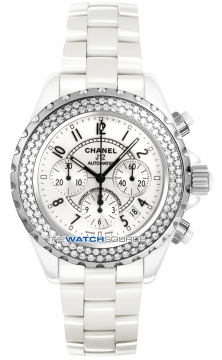 Chanel J12 Automatic Chronograph 41mm Midsize watch, model number - h1008, discount price of £10,710.00 from The Watch Source