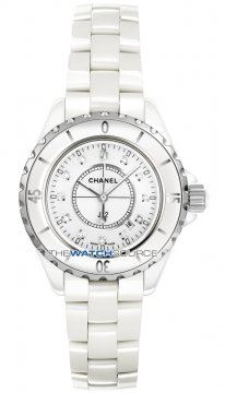 Chanel J12 Quartz 33mm Ladies watch, model number - h1628, discount price of £3,630.00 from The Watch Source