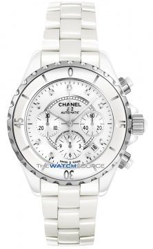 Chanel J12 Automatic Chronograph 41mm Midsize watch, model number - h2009, discount price of £5,015.00 from The Watch Source