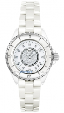 Chanel J12 Quartz 33mm Ladies watch, model number - H2123, discount price of £6,350.00 from The Watch Source