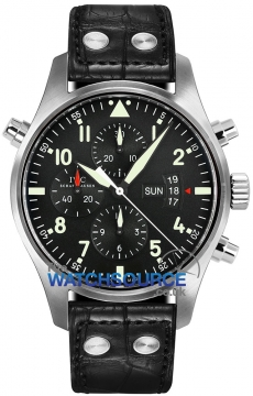 IWC Pilot's Watch Double Chronograph Mens watch, model number - IW377801, discount price of £8,075.00 from The Watch Source