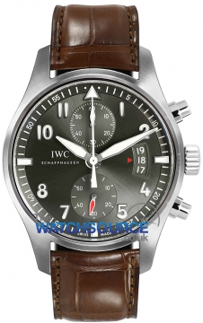 IWC Pilot's Watch Spitfire Chronograph Mens watch, model number - IW387802, discount price of £7,180.00 from The Watch Source