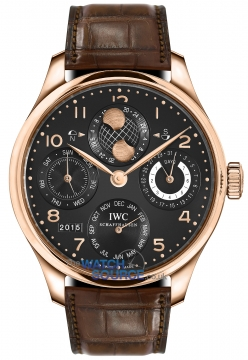 Buy this new IWC Portuguese Perpetual Calendar Hemisphere Moonphase IW503202 mens watch for the discount price of £25,287.00. UK Retailer.