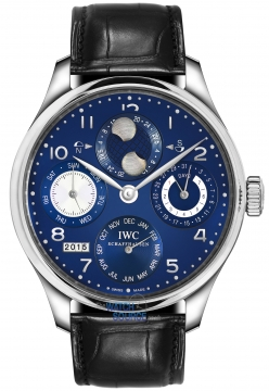 Buy this new IWC Portuguese Perpetual Calendar Hemisphere Moonphase IW503203 mens watch for the discount price of £27,752.00. UK Retailer.