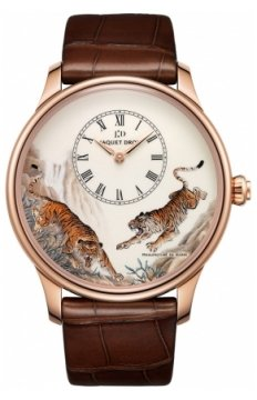 Jaquet Droz Les Ateliers d'Art Petite Heure Minute Enamel Painting 43mm Mens watch, model number - J005033222 TIGERS, discount price of £20,475.00 from The Watch Source