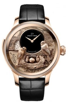 Jaquet Droz Les Ateliers d'Art Automata THE BIRD REPEATER Mens watch, model number - J031033202, discount price of £426,240.00 from The Watch Source