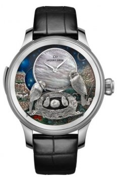 Jaquet Droz Les Ateliers d'Art Automata THE BIRD REPEATER Mens watch, model number - J031034202, discount price of £319,680.00 from The Watch Source