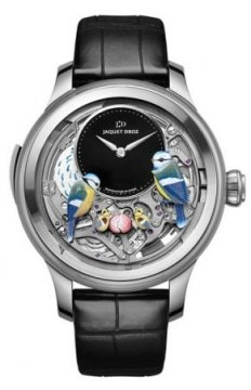 Jaquet Droz Les Ateliers d'Art Automata THE BIRD REPEATER Mens watch, model number - J031034203, discount price of £319,680.00 from The Watch Source