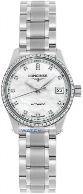 Longines Master Automatic 25.5mm Ladies watch, model number - L2.128.0.87.6, discount price of £2,303.00 from The Watch Source