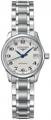 Longines Master Automatic 25.5mm Ladies watch, model number - L2.128.4.78.6, discount price of £954.00 from The Watch Source