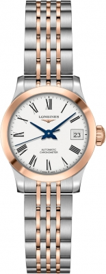 Buy this new Longines Record 26mm L2.320.5.11.7 ladies watch for the discount price of £2,040.00. UK Retailer.