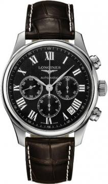 Longines Master Automatic Chronograph 44mm Mens watch, model number - L2.693.4.51.5, discount price of £1,580.00 from The Watch Source