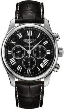 Longines Master Automatic Chronograph 44mm Mens watch, model number - L2.693.4.51.7, discount price of £1,674.00 from The Watch Source