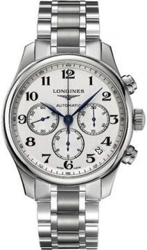 Longines Master Automatic Chronograph 44mm Mens watch, model number - L2.693.4.78.6, discount price of £1,674.00 from The Watch Source