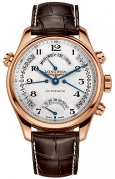 Longines Master Retrograde Seconds 44mm Mens watch, model number - L2.717.8.78.3, discount price of £7,620.00 from The Watch Source