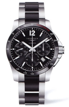 Longines Conquest Automatic Chronograph 41mm Mens watch, model number - L2.744.4.56.7, discount price of £1,875.00 from The Watch Source