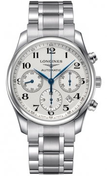 Buy this new Longines Master Automatic Chronograph 42mm L2.759.4.78.6 mens watch for the discount price of £1,842.00. UK Retailer.