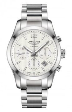 Longines Conquest Classic Automatic Chronograph 41mm Mens watch, model number - L2.786.4.76.6, discount price of £1,680.00 from The Watch Source