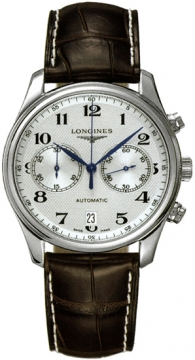 Longines Master Automatic Chronograph 40mm Mens watch, model number - L2.629.4.78.3, discount price of £1,470.00 from The Watch Source