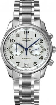 Longines Master Automatic Chronograph 38.5mm Mens watch, model number - L2.669.4.78.6, discount price of £1,470.00 from The Watch Source
