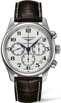 Longines Master Automatic Chronograph 44mm Mens watch, model number - L2.693.4.78.3, discount price of £1,580.00 from The Watch Source