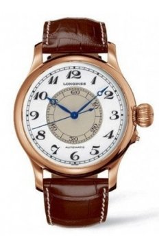 Longines Weems Second Setting Mens watch, model number - L2.713.8.13.0, discount price of £8,285.00 from The Watch Source