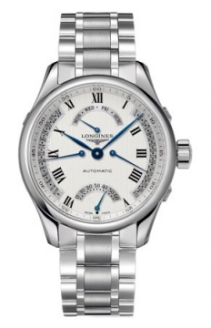 Longines Master Retrograde Seconds 41mm Mens watch, model number - L2.715.4.71.6, discount price of £1,755.00 from The Watch Source