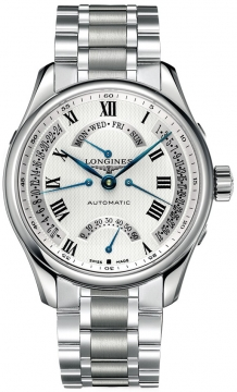 Longines Master Retrograde Seconds 44mm Mens watch, model number - L2.717.4.71.6, discount price of £1,820.00 from The Watch Source