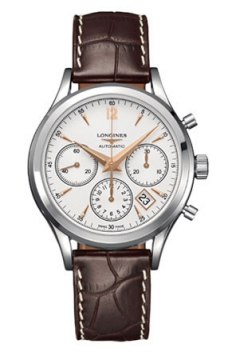 Longines Heritage Chronograph Mens watch, model number - L2.750.4.76.2, discount price of £1,615.00 from The Watch Source