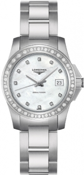 Longines Conquest Quartz Ladies 29.5mm Ladies watch, model number - L3.258.0.89.6, discount price of £1,290.00 from The Watch Source