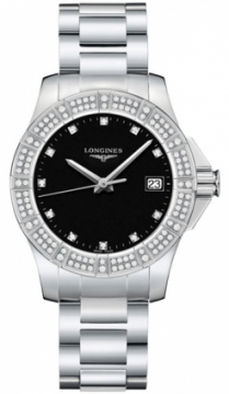 Longines Conquest Quartz 35mm Ladies watch, model number - L3.280.0.57.6, discount price of £1,450.00 from The Watch Source