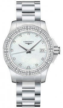 Longines Conquest Quartz 35mm Ladies watch, model number - L3.280.0.87.6, discount price of £1,400.00 from The Watch Source