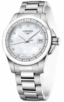 Longines Conquest Quartz 35mm Ladies watch, model number - L3.281.0.87.6, discount price of £1,054.00 from The Watch Source