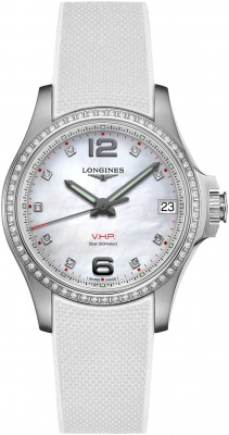 Buy this new Longines Conquest V.H.P. 36mm L3.316.0.87.9 ladies watch for the discount price of £2,031.00. UK Retailer.