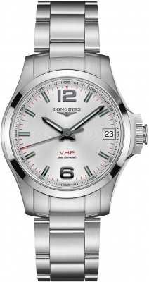 Buy this new Longines Conquest V.H.P. 36mm L3.316.4.76.6 ladies watch for the discount price of £705.00. UK Retailer.